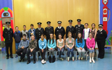 Our new cadet members pictured with our staff officers